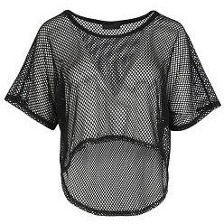 Evelyn Mesh Crop Top Black