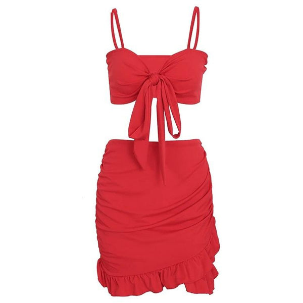 Felici Two Piece Red