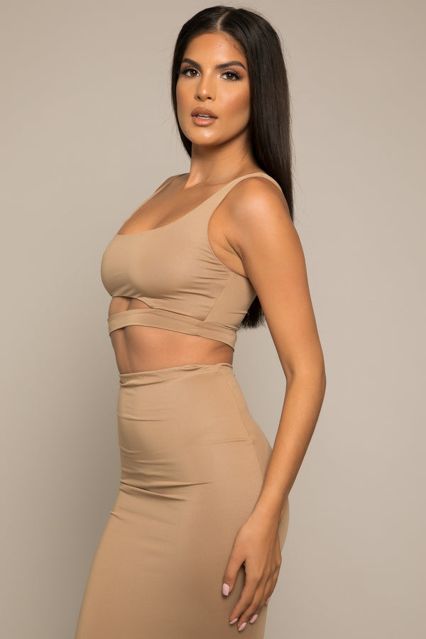 Fiara Crop Top Camel