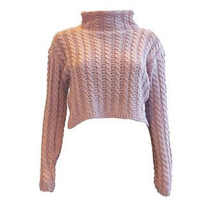 Frances Knit Crop Jumper Pink