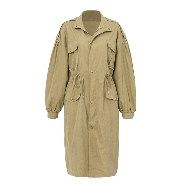 Gatsby Trench Coat Beige