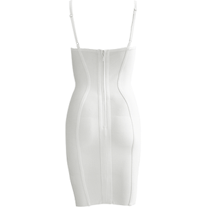 Gianni Mini Bandage Dress White