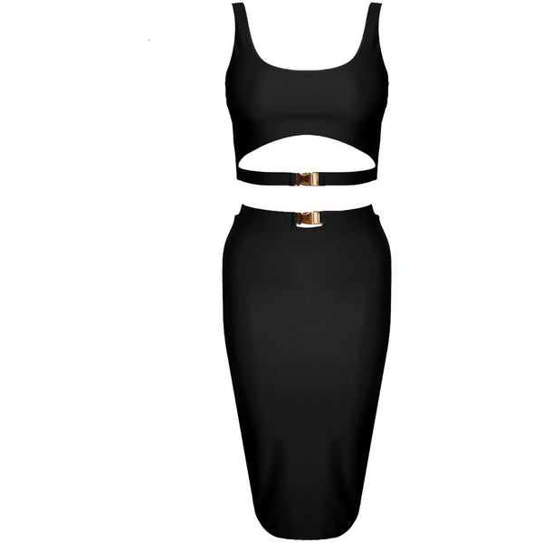 Gillana Two Piece Black