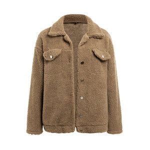 Ginna Teddy Jacket Brown