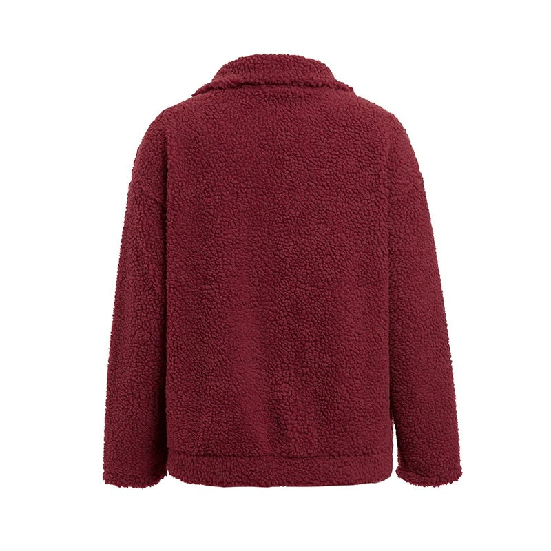 Ginna Teddy Jacket Wine