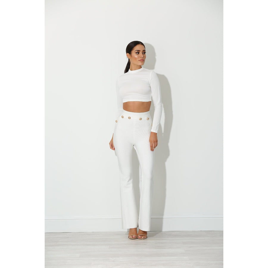 Helenia Bandage Trousers White