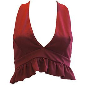 Hilda Crop Top Wine