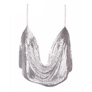 Hiral Chainmail Top -Silver