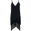 Huda Black Tassel Dress Black