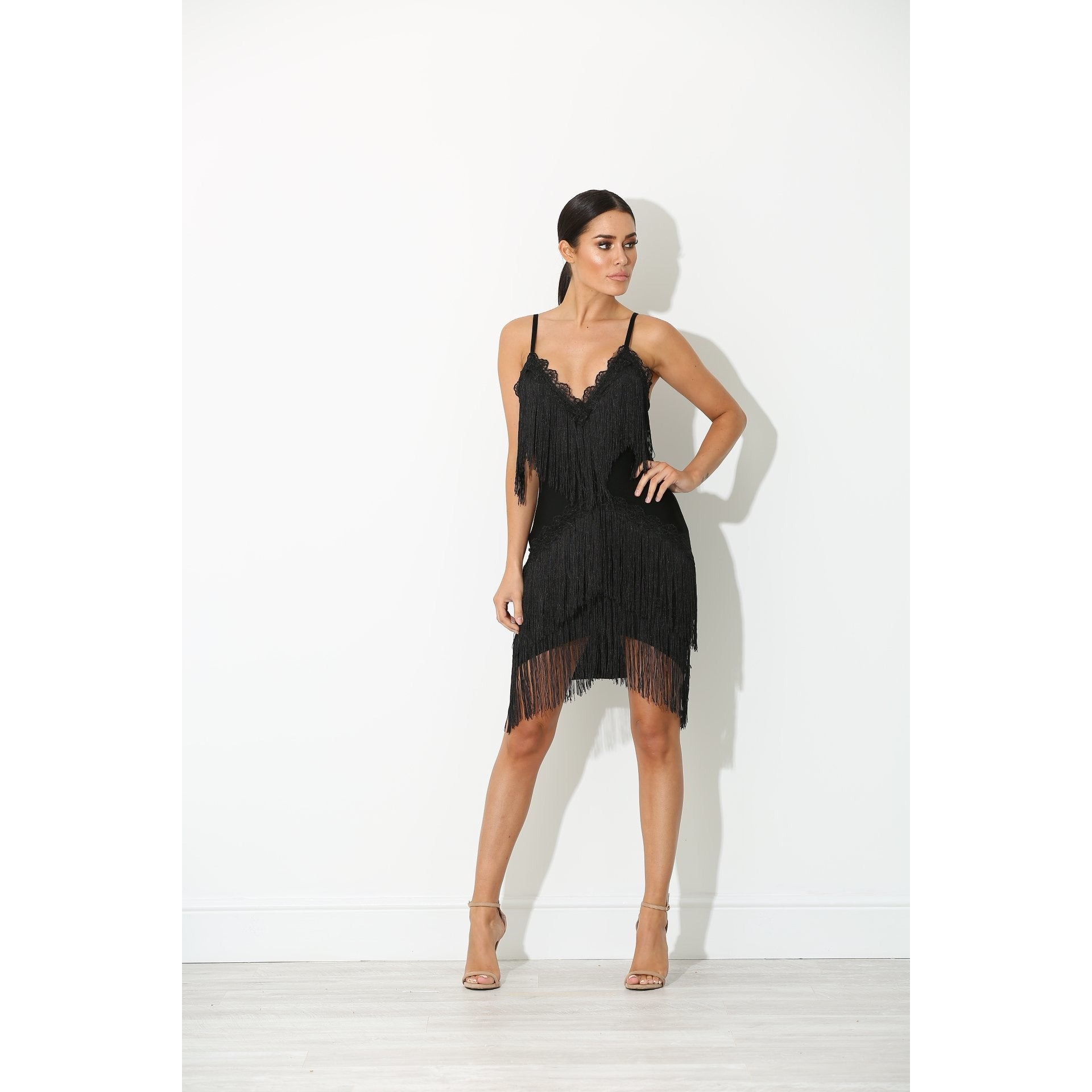 29a023e928d Huda Black Tassel Dress Black - NewAgeRebel.com