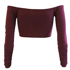Irella Crop Top Wine