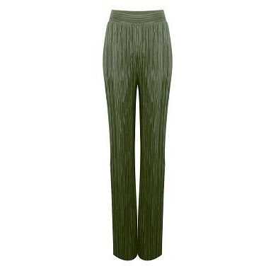 Irena Pleated Trousers -Khaki