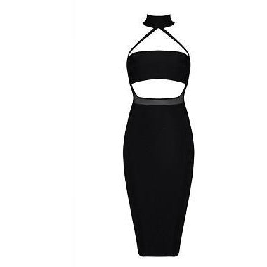 Janel Bandage Dress -Black