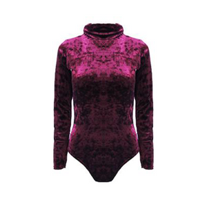 Freya Crushed Velvet Bodysuit Wine