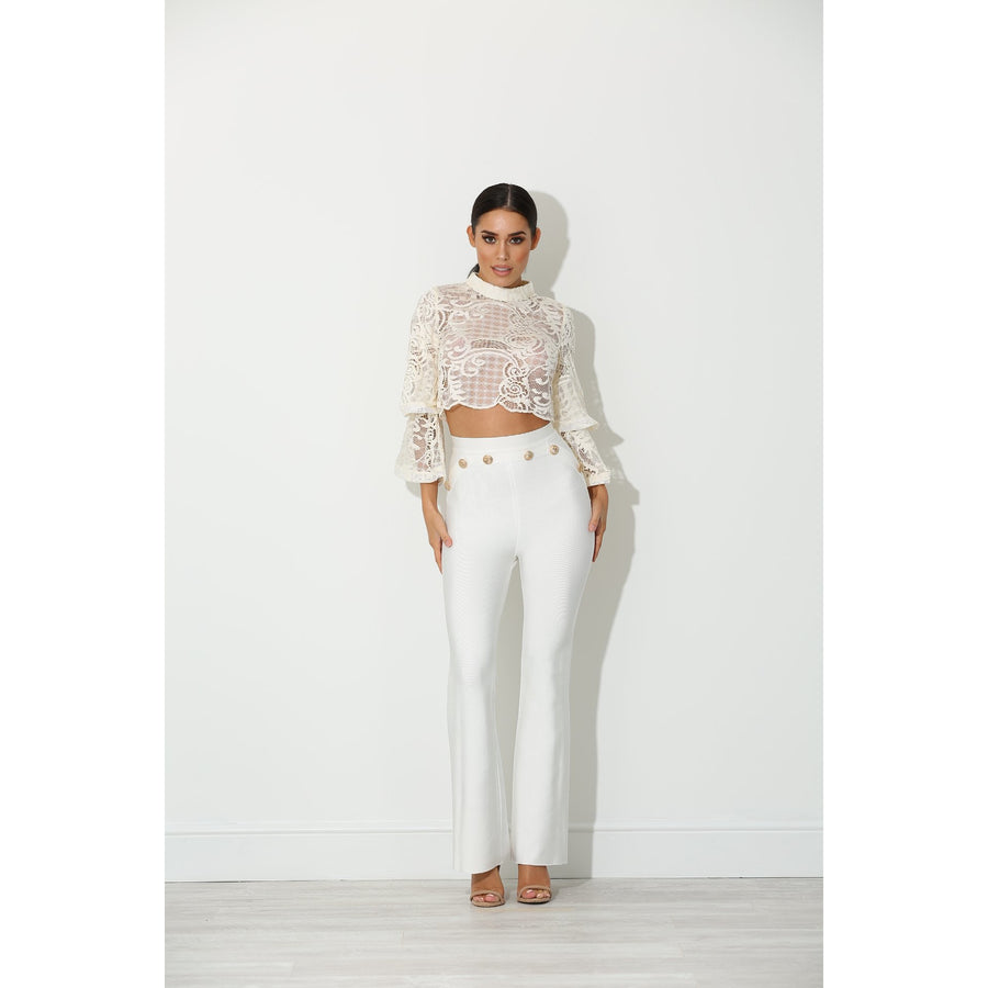Janson Lace Crop Blouse