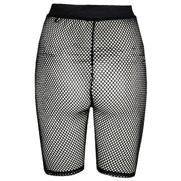 Jessie Cropped Fishnet Shorts
