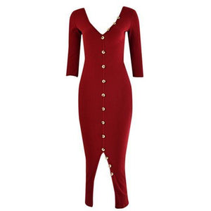 Jetta Ribbed Dress Rouge