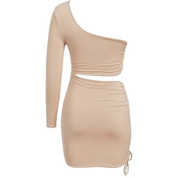 Juni Ruched Mini Dress Nude