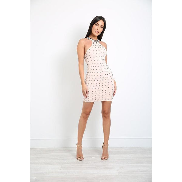 Kadi Studded Mini Dress