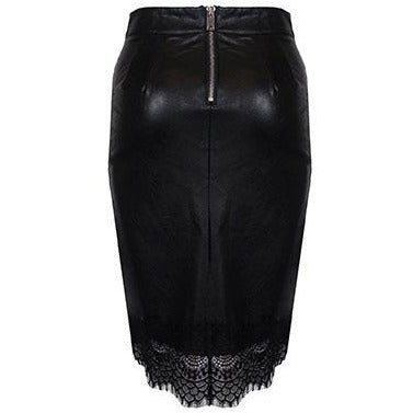 Kaila Leatherette Skirt Black