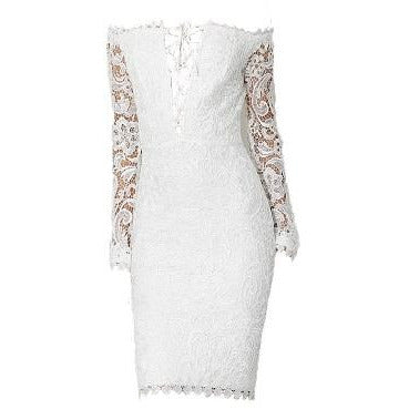 Kellen White Lace Dress
