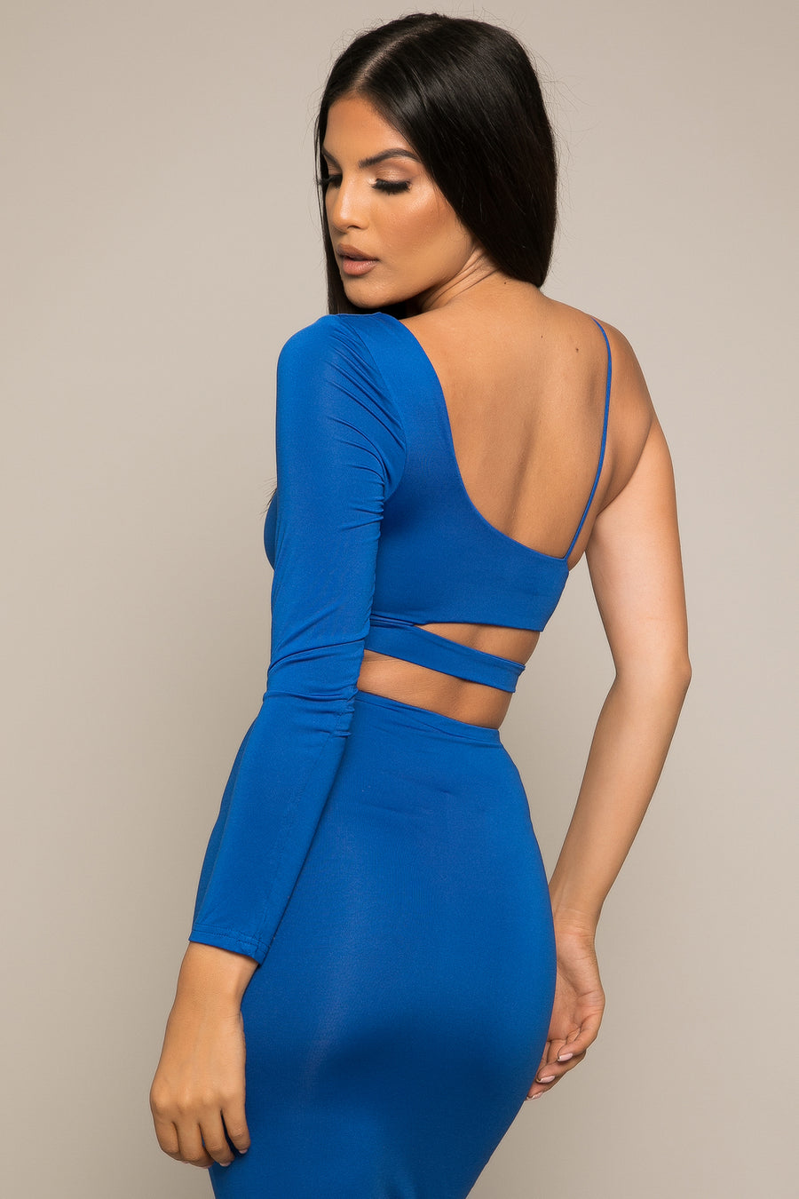 Kiara Crop Top Blue