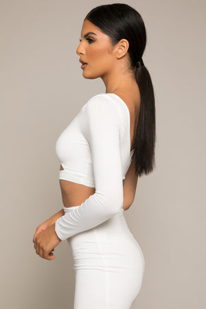 Kiara Crop Top White