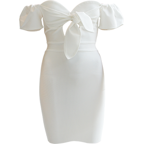 Geri Mini Bandage Dress White