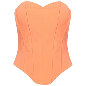 Leyla Corset Top Coral Pink