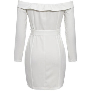 Mallenia Blazer Dress White