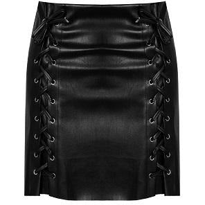 Mario Leatherette Skirt Black
