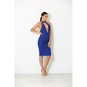 Maya Bandage Dress Blue