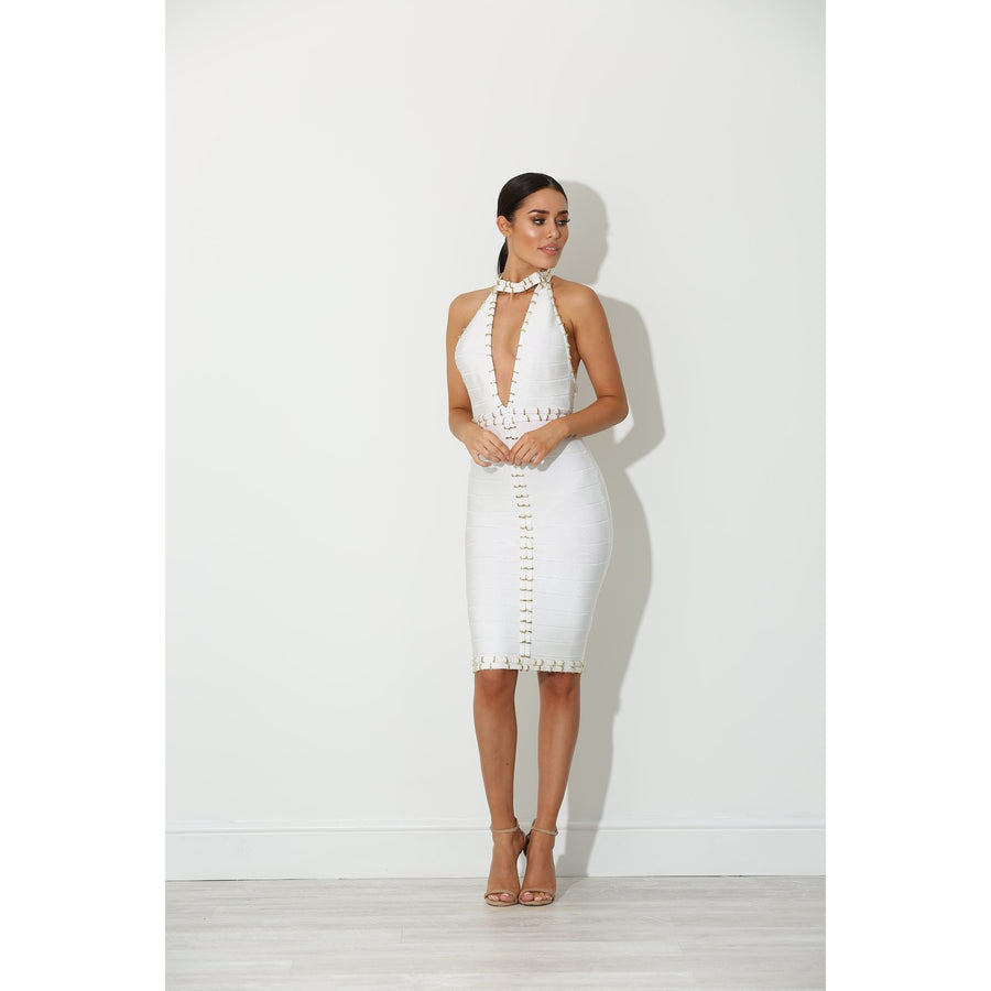 Maya Bandage Dress White