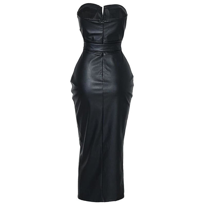 Merima Leatherette Dress