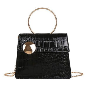 Milan Croc Wire Bag Black