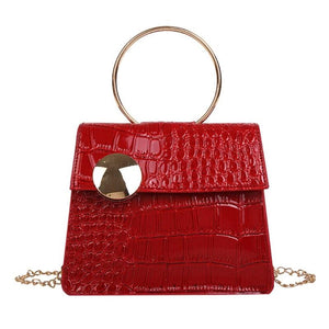 Milan Croc Wire Bag Red