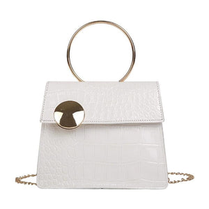 Milan Croc Wire Bag White