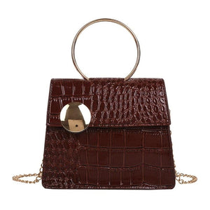 Milan Croc Wire Bag Wine