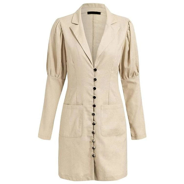 Molli Blazer Dress Beige