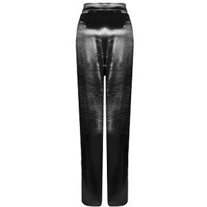 Nicolette Black Satin Trousers