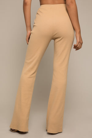 Nikelle Ribbed Trousers Camel