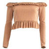 Niki Crop Top Camel