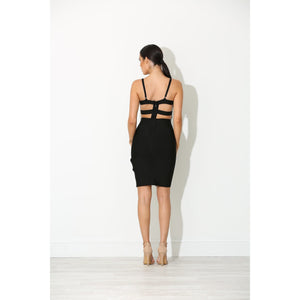 Odessa Black Bandage Dress