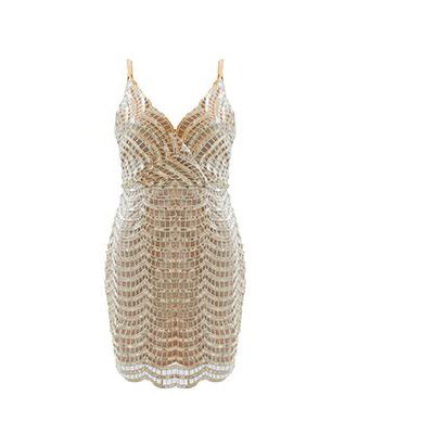 Ofelia Sequin Dress Gold