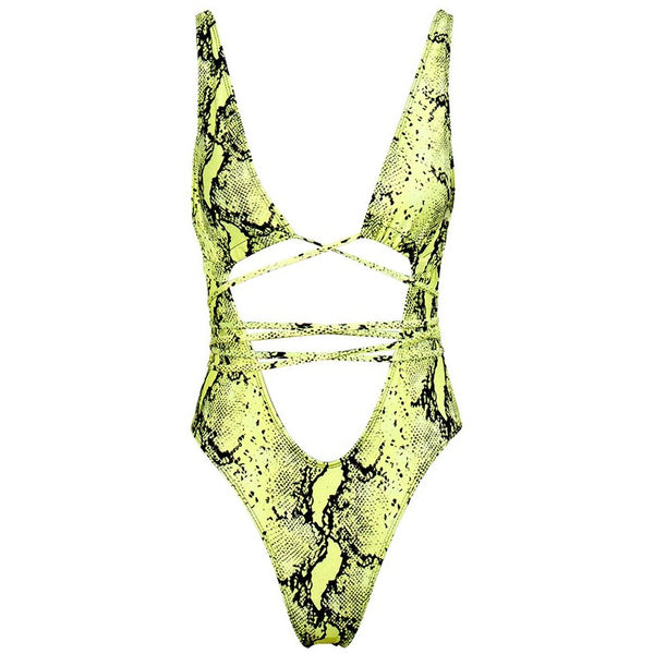 Python One Piece Swimsuit