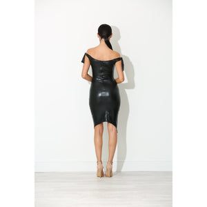 Raven Wet Look Dress