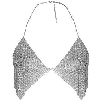 Rissa Chainmail Bralet Top Silver