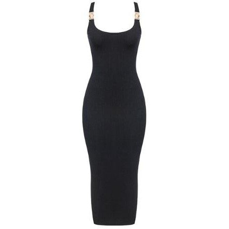 Sasha Ribbed Dress Black