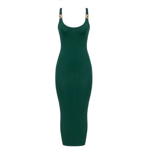 Sasha Ribbed Dress Green