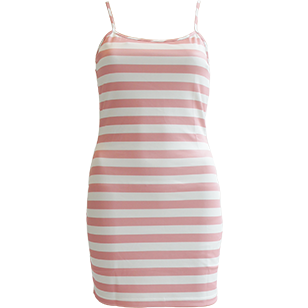 Seray Candy Stripe Mini Dress